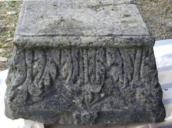 Chapiteaux en calcaire ornés de feuilles d'acanthes stylisées. Début du IIIème siècle ap.J.-C.