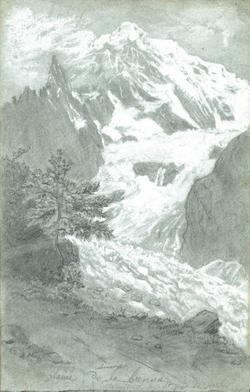 Carnet de croquis Paysages de montagne glacier de la ...