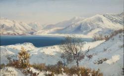 Lac d'Annecy en hiver, janvier 1856