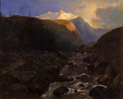 Le torrent, paysage alpestre
