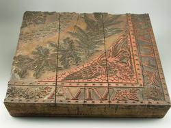 Planche pour indiennes légendée Viva Italia, Manufacture de coton d'Annecy et Pont